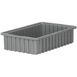"33164GREYAM Akro-Mils® Akro-Grid Dividable Grid Container, 16 1/2""L x 4""H x 10 7/8""W, Gray, 1/Each"