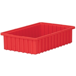 "33164REDAM Akro-Mils® Akro-Grid Dividable Grid Container, 16 1/2""L x 4""H x 10 7/8""W, Red, 1/Each"