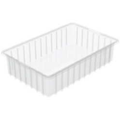 "33164SCLARAM Akro-Mils® Akro-Grid Dividable Grid Container, 16 1/2""L x 4""H x 10 7/8""W, Clear, 1/Each"