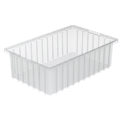 "33165SCLARAM Akro-Mils® Akro-Grid Dividable Grid Container, 16 1/2""L x 5""H x 10 7/8""W, Clear, 1/Each"