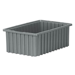 "33166GREYAM Akro-Mils® Akro-Grid Dividable Grid Container, 16 1/2""L x 6""H x 10 7/8""W, Gray, 1/Each"