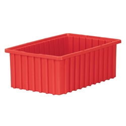 "33166REDAM Akro-Mils® Akro-Grid Dividable Grid Container, 16 1/2""L x 6""H x 10 7/8""W, Red, 1/Each"
