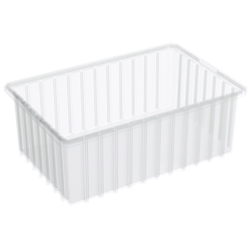 "33166SCLARAM Akro-Mils® Akro-Grid Dividable Grid Container, 16 1/2""L x 6""H x 10 7/8""W, Clear, 1/Each"