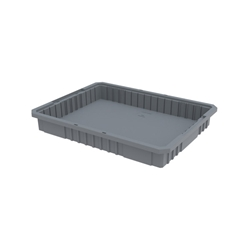 "33223GREYAM Akro-Mils® Akro-Grid Dividable Grid Container, 22 1/2""L x 3""H x 17 3/8""W, Gray, 1/Each"