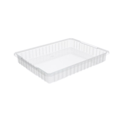 "33223SCLARAM Akro-Mils® Akro-Grid Dividable Grid Container, 22 1/2""L x 3""H x 17 3/8""W, Clear, 1/Each"