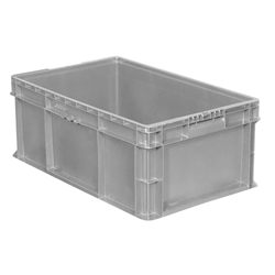 "SW241509F101000AM Buckhorn® Straight Wall Container, 24""L x 15""W x 9""H, Light Gray, 1/Each"