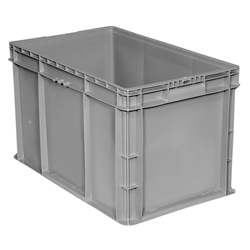 "SW241514F101000AM Buckhorn® Straight Wall Container, 24""L x 15""W x 14""H, Light Gray, 1/Each"