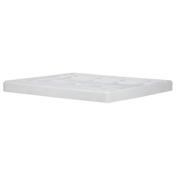 "TL42290400SG000AM Buckhorn® Structural Foam Lid (For 42"" x 29"" Agricultural Boxes), 42""L x 29""W x 4""H, White, 1/Each"
