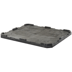 "TS4840020010000AM Buckhorn® Structural Foam Lid (For 48"" x 40"" Agricultural Boxes w/ 5 Runners) 48""L x 40""W x 2""H, Black, 1/Each"