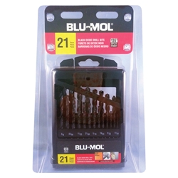 Disston® Blu-Mol® 21-Piece Black Oxide Drill Bit Set