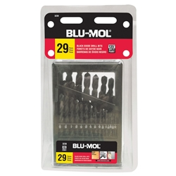 Disston® Blu-Mol® 29-Piece Black Oxide Drill Bit Set