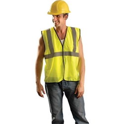 OccuNomix Class 2 Solid Mesh Standard Vest, Large/X-Large, Yellow