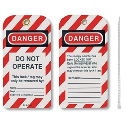 "Honeywell® Styrene Lockout Tags, ""Do Not Operate"""