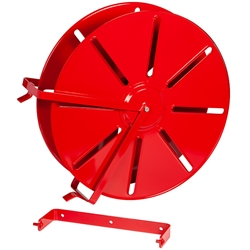 "HDR25HCBR FireTech™ High-Capacity Heavy-Duty Hose Reel (For 1 1/2"" Rack 300, SJ 200, & DJ 150 or 2 1/2"" Rack 150, SJ 100, & DJ 75 Hose), 30""L x 25""H x 8 3/4""W, Red, 1/Each"