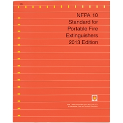 NFPA1013BR NFPA 10: Standard for Portable Fire Extinguishers, 2013 ed, 1/Each