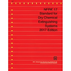 NFPA1717BR NFPA 17: Standard for Dry Chemical Extinguisher Systems, 2017 ed, 1/Each