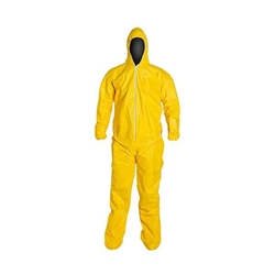 DuPont™ Tychem® QC Coveralls w/ Attached Socks, Large