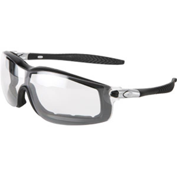 MCR Safety® Rattler™ Goggles, Black Frame, Clear Anti-Fog Lens