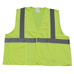 TruForce™ Class 2 Solid Mesh Safety Vest, Lime, Large