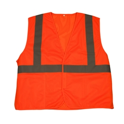 TruForce™ Class 2 Solid Mesh Safety Vest, Orange, X-Large
