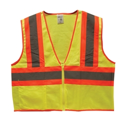 TruForce™ Class 2 Two-Tone Mesh Safety Vest, Lime, Medium