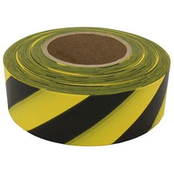 "Presco Patterned Roll Flagging, Standard, 1 3/16"" x 300, Yellow/Black"