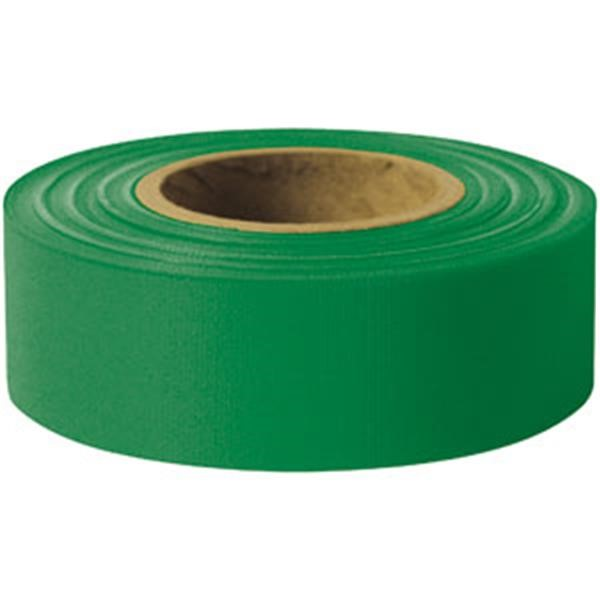 "Presco Solid-Color Roll Flagging, Standard, Taffeta, 1 3/16"" x 300, Green"