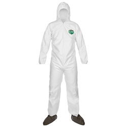 Lakeland MicroMax® Coveralls w/ Front Hood, Boots, & Elastic Wrists, Large