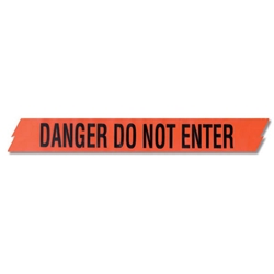 "Presco Barricade Tape, 2.5 mil, ""Danger Do Not Enter"", Red, 1/Roll"
